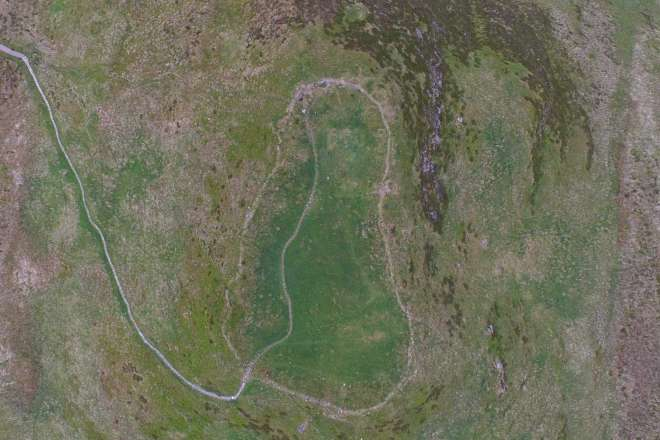 Dun Deardail Fort from 100m altitude