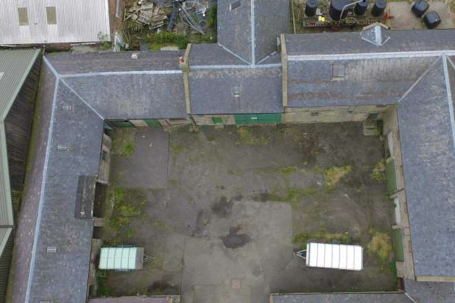 Aerial image to aid survey planning
