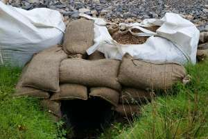 Completed culvert over a minor watercourse