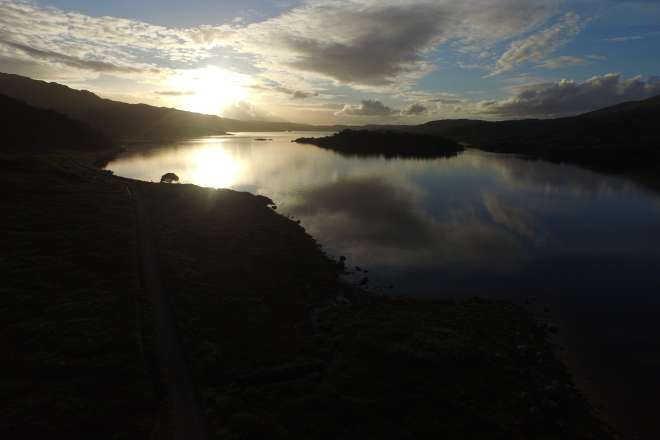 Sunset over Loch Sunart