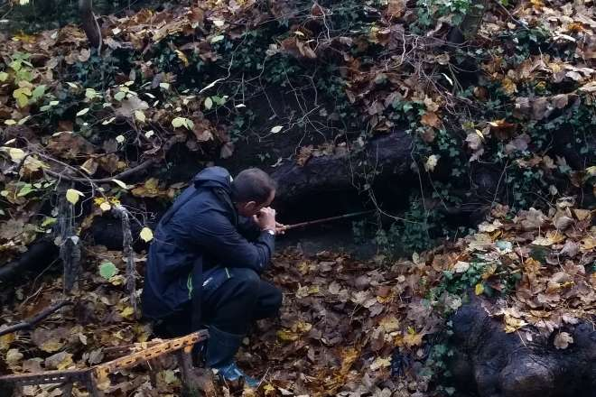 A remote wildlife camera placed at this otter holt could get washed away in high water